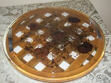 Serving Tray Wooden Lattice Dried Flowers with Handles