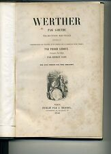 GOETHE. WERTHER. PREFACE GEORGE SAND. 1845