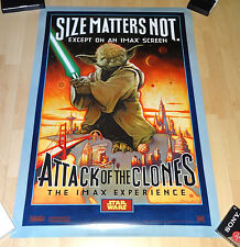 STAR WARS EPISODE II - IMAX Poster - Yoda 2-sided - original Poster - rare