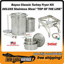"""Outdoor Turkey Fryer """"TOP OF THE LINE"""" Complete Stainless Steel Kit The Best"""