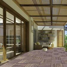 New Bare Decor Floor Interlocking Flooring Tiles in Solid Teak Wood Oiled Finish