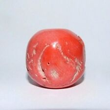 HUGE VINTAGE ANGEL SKIN CORAL BEAD. WEIGHT 37.3 GRAMS. UNDYED.