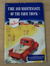 "VTG 1943 WWII Era WARTIME ""CARE and MAINTENANCE of the FARM TRUCK""~Studebaker~"