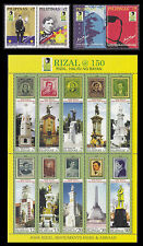 Philippines Stamps 2011 MNH Rizal 150th Birth Anniversary complete set