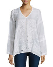 NWT $245 Johnny Was L-XL HANKY Oversized Embroidered Flowy Tunic Top BLOUSE