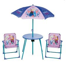 New DISNEY FROZEN Kids Garden Table and Chairs Patio Set