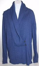 Ann Taylor Cashmere Blend Sweater Deep V Pullover Blue Ladies Size Medium