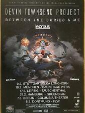 DEVIN TOWNSEND PROJEKT 2017 TOUR   ++  Concert Poster -- Konzert Plakat  A1 NEU