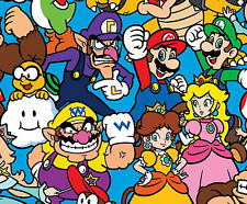FAT QUARTER NINTENDO SUPER MARIO PACKED CHARACTER SPRINGS CREATIVE COTTON FABRIC