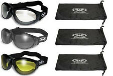 3 Padded ATV Motorcycle Goggles Googles + BAGS Clear Dark Yellow New Burning Man