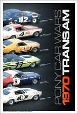 1970 Trans-Am / Pony Car Wars. First Time on Ebay! Car Poster!!!