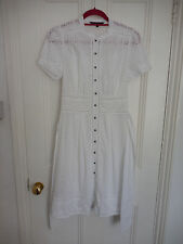 COAST White Broderie Anglaise Dress UK 8 ❤