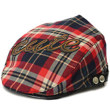 Baby Kids Cotton Plaid Baseball Casquette Beret Cap Toddler Infant Peaked Hat