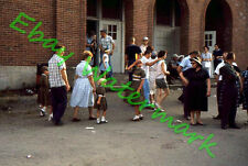 Crowded Street by Building Midway at Wisconsin State Fair 1960 Kodak 35mm Slide