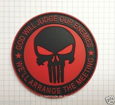 moral patch velcro pvc airsoft scratch Punisher God Will Judge Our Enemies 052