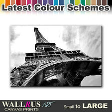 Paris Eiffel Tower CITY  Canvas Print Framed Photo Picture Wall Artwork WA