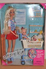 """1995 playline Collector SHOPPING """"Fun Barbie & Kelly Playset"""