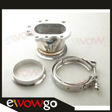 "GT25R GT28R GT28RS TO 3"" INCH V-BAND VBAND CLAMP FLANGE DOWNPIPE ADAPTER KIT"