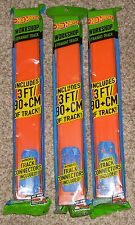 2013 Hot Wheels Workshop 3 Packs 9+ Feet Track Builder Orange Straight Track