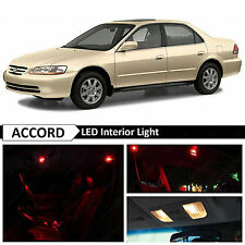 12x Red Interior LED Lights Package for 1998-2002 Honda Accord Sedan + TOOL