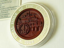 Korea 2004 Final Issue Czech Crown Edelstein Relief coin Silber 10 Won silver