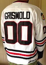 52/XL GRISWOLD Blackhawks #00 Clark Christmas Movie Hockey Jersey