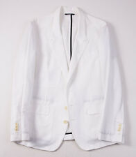 NWT $1245 DOLCE & GABBANA Slim-Fit White Cotton-Linen Blazer 42 R Sport Coat