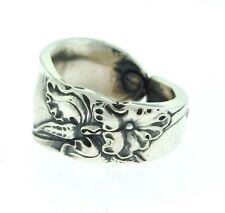 Vintage White Orchid Silver Spoon Ring