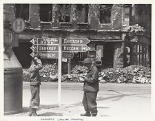 WORLD WAR ll ~ CHEMNITZ (RUSSIAN TERRITORY) ~ ORIGINAL COMBAT PHOTO - 1945