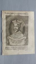 1669 Ritratto Girolamo Vascheri da Carpi Vicario Epis. Brescia Vescovo Scutati