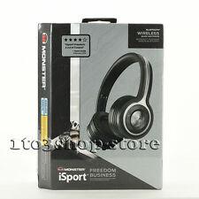 Monster Isport Freedom Wireless Bluetooth On-Ear Headphones w/Mic Remote Black