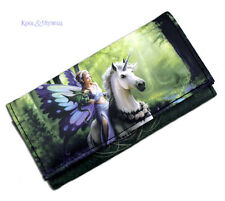 "Anne Stokes Vinyl Wallet Purse: ""Realm of Enchantment"" Fairy with Unicorn"