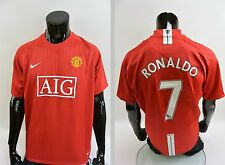 2007-09 nike Manchester United Home Shirt Ronaldo Champions League 2008 SIZE XL