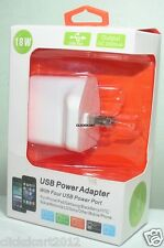 18W 4 Port USB Power Adaptor For iPad Air/Mini/iPhone 5/ 6/ 6 Plus/Galaxy Tab