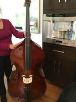 Brown Upright Double Bass