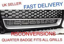 AUDI Quattro BADGE GRILL Logo Emblema A3 A4 A5 A7 TT RS5 RS4 A1 Q7 RS3 Rs6 Rs7 R8