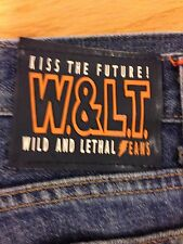 Authentic W&LT Walter Van Beirendonck Lightening Denim Jeans Size 31 Very Rare !