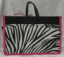 Medium Zebra & Pink Handbag Bag Organiser, Insert Organizer With 14 Compartments