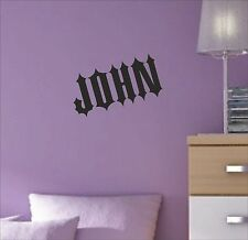 CUSTOM Personalise Your Name Text lettering GOTHIC STYLE decal sticker vinyl