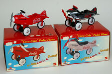 Anique 2 Sets Coca Cola Die Cast Pedal Plane Airplane Rare Limited Edition