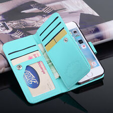 Luxury Stand 9 Card Slot Holder Leather Wallet Case Flip Cover For iPhone 5s SE