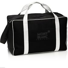 Montblanc Large Black Duffle Bag BNWOT Overnight Flight Gym Sports Shoulder Pen