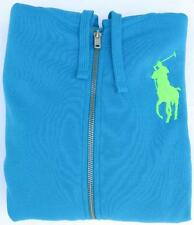 Ralph Lauren Polo Hoodie Sweatshirt Zip Up Big Pony Jacket M (Ocean Blue)