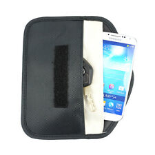 Black Anti-Tracking RFID Blocker Anti-Radiation Case Bag-iPhone Cell phone etc