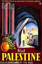 Visit Palestine Land of the Bible Vintage Travel Art Poster Advertisement