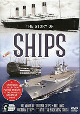 THE STORY OF SHIPS - 3 DVD BOX SET - TITANIC, HMS VICTORY & 100 YEARS