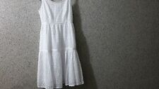 £140 DKNY Beautiful Broderie Lace Dress. Brilliant White. P (XXS 4uk 32eur) New