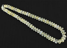 BRILLIANT REAL 467.00 CTS NATURAL SHINING CARVED YELLOW CITRINE BEADS NECKLACE