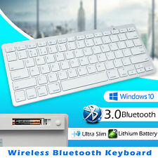 Bluetooth V3.0 Inalámbrico Teclado Qwerty Reino Unido Layout PLATA PC Laptop Teléfono Tablet