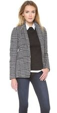 $435 NWT THEORY JONILA K CATALOGUE BLAZER/JACKET Bouclé BLACK/WHITE SZ 0